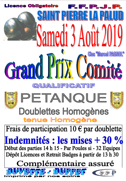 Qualificatif GP COM Samedi 03/08/19 Saint Pierre La Palud