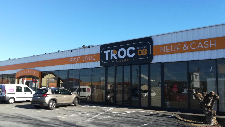 Quelque chose à Vendre ou quelque chose à Acheter, une seule adresse TROC 03 à DOMERAT 62 avenue Ambroise CROIZAT.