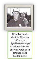Dede Barraud 100 ans