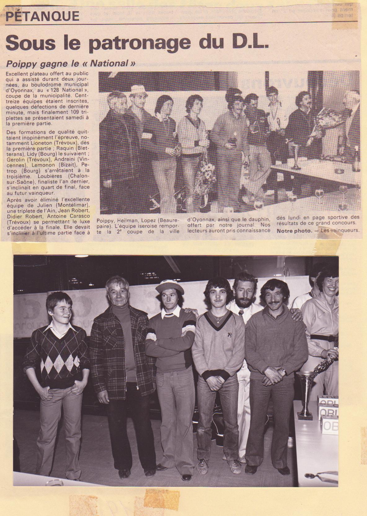 National Oyonnax 1981
