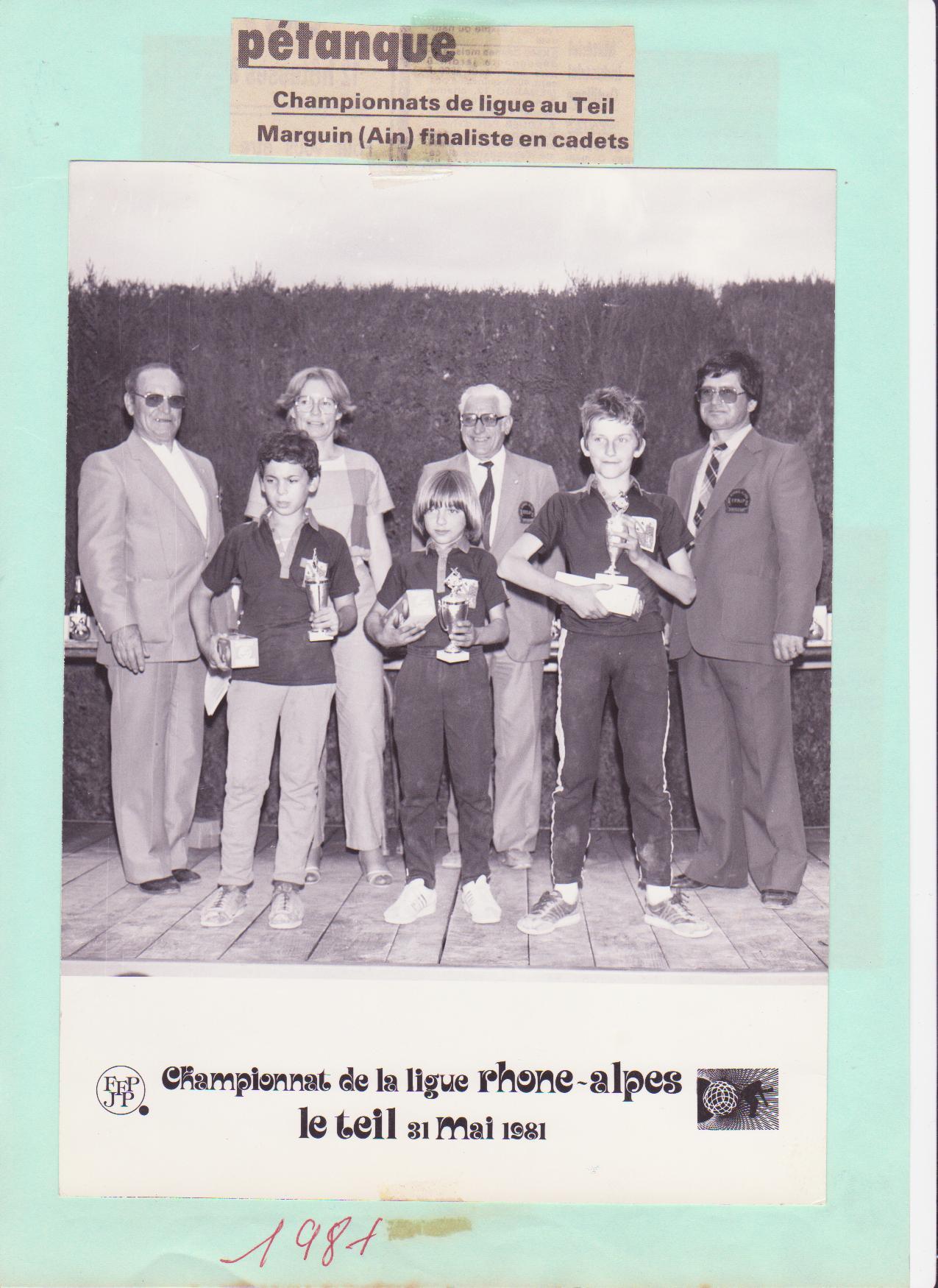 Ligue au Teil 1981.