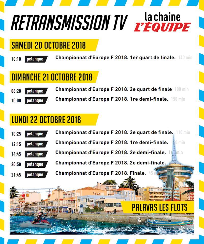 Championnat d'Europe féminin sur l'EQUIPE TV.