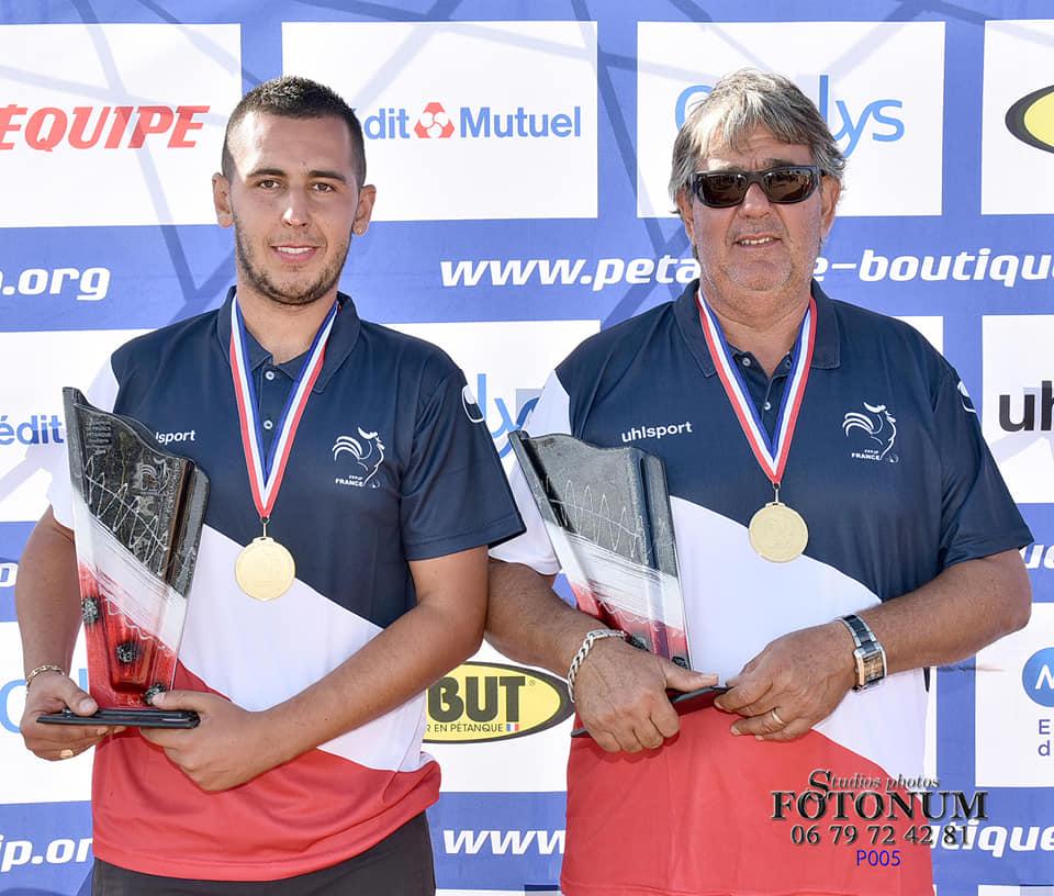 Résultat championnat de France doublette provençal.