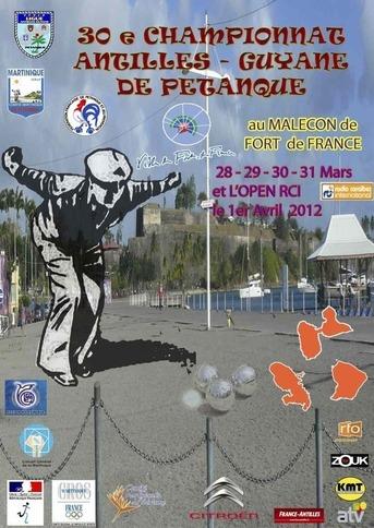 Affiche du 30ème championnat de ligue Antilles-Guyane 2012