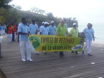 Suivi de la Délégation de la Guadeloupe....