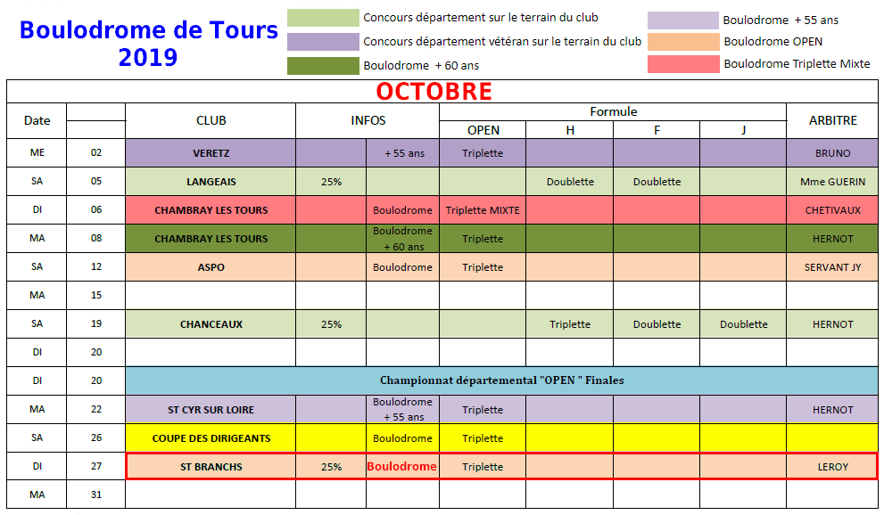 Ffpjp Calendrier 2020.Club Petanque De Hommes 37340