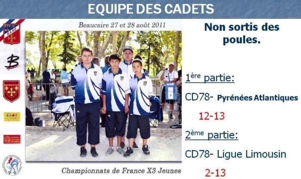 CHAMPIONNAT DE FRANCE 2011 CADET- BEAUCAIRE (30)