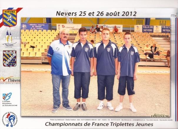 LES CHAMPIONNATS DE FRANCE JEUNES 25 ET 26 AOUT A NEVERS