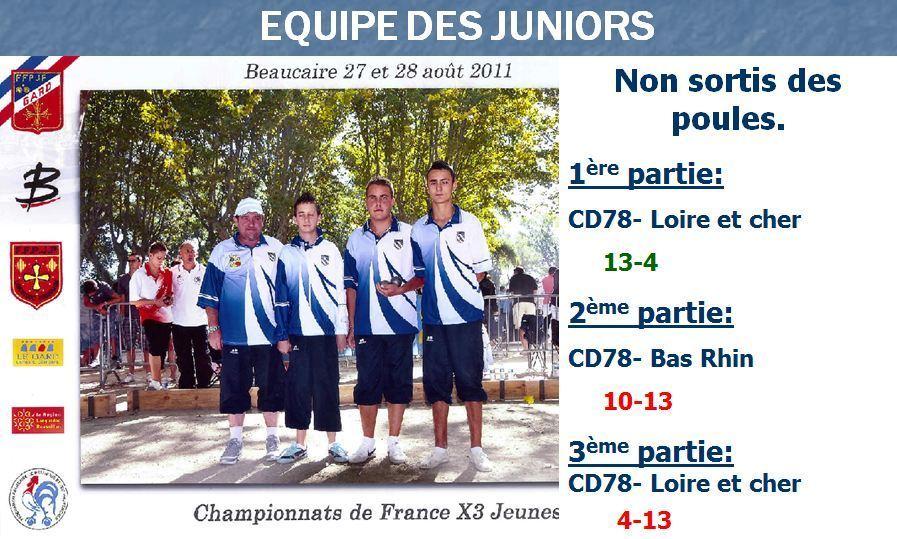 CHAMPIONNAT DE FRANCE 2011 JUNIOR- BEAUCAIRE (30)