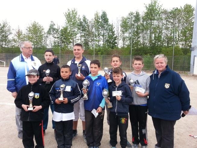 Championnats Départementaux Doublettes Jeunes 2014