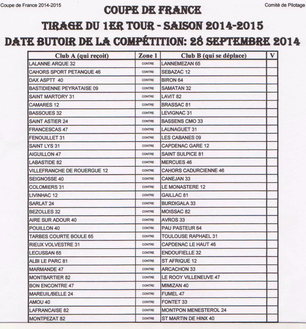 Coupe de france 2014 2015 - Tirage coupe de france 2014 ...