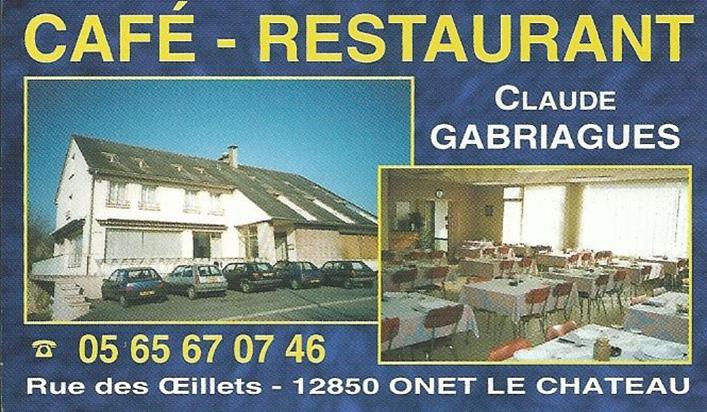 Cafe Restaurant Gabriagues A Onet Le Chateau