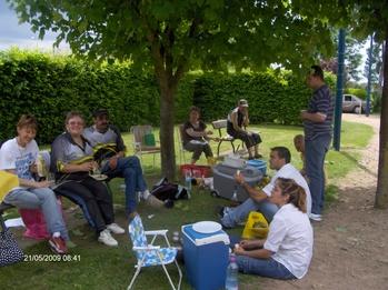 Récapitulatif des poules pour le championnat d'Allier doublette mixte du 21 mai 2009
