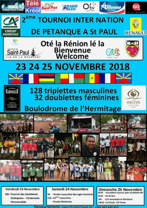2ème TOURNOI INTER NATION de Saint-Paul