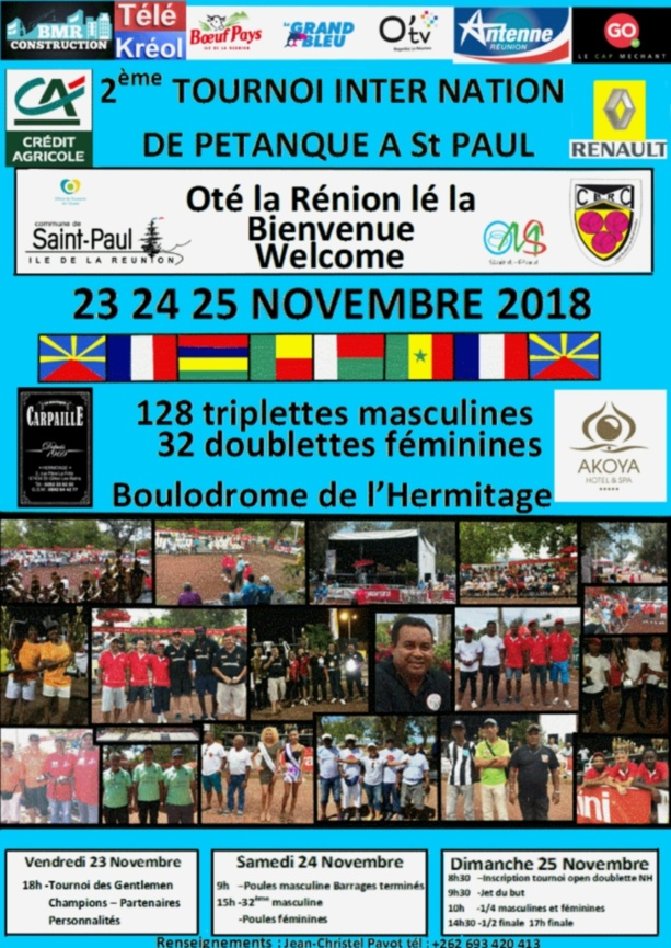 2ème TOURNOI INTER NATION de Saint-Paul