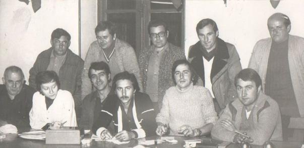 Sur cette photo nous pouvons voir encore quelques dirigeants qui sont encore au Club, je vais vous les nommer:    GAUTHEROT André     BEAUVAL Christian    BERNON Jean-Claude et notre regretté DODAT Georges