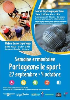 Affiche Tournoi d'Intégration de la ville d'Ermont