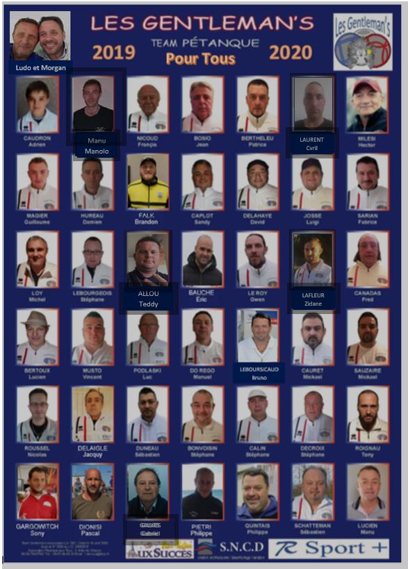 """La team """" les gentleman's"""" 2019/2020"""