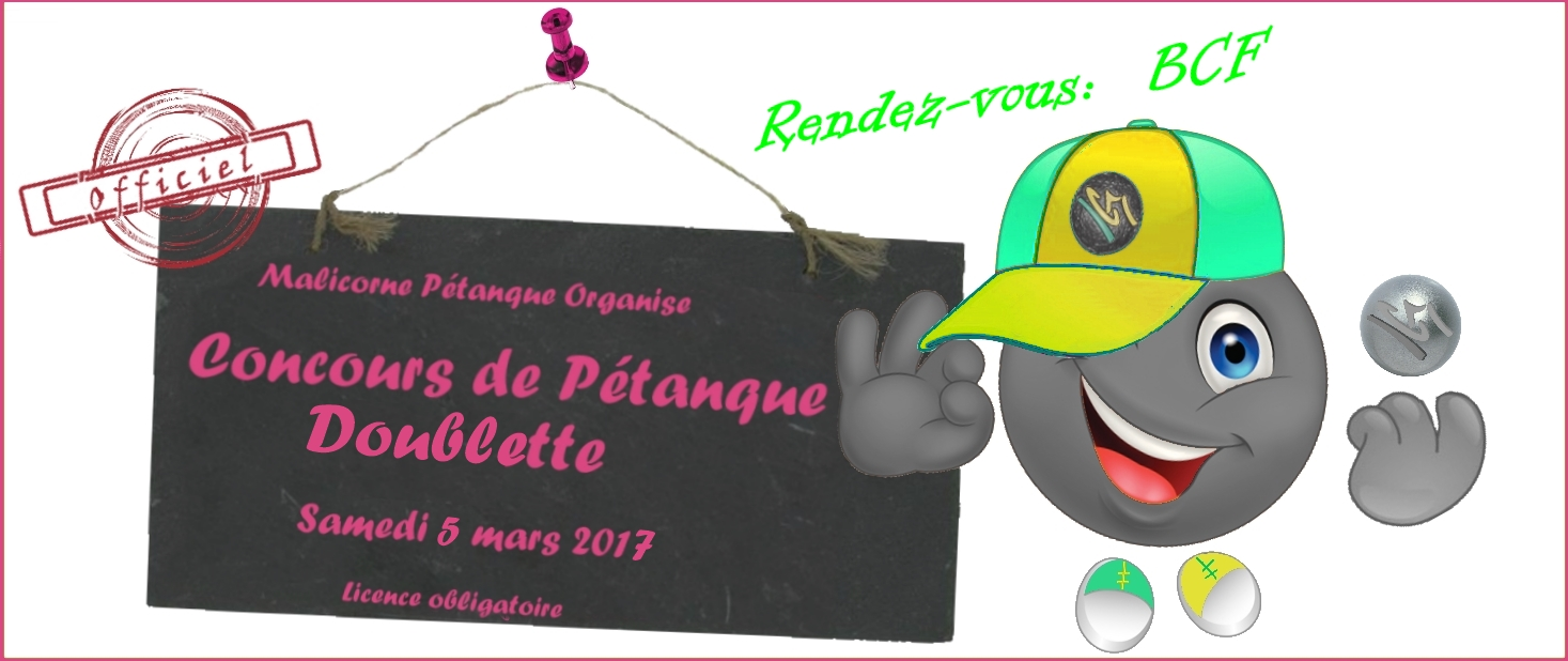 Concours doublette - 5 mars 2017