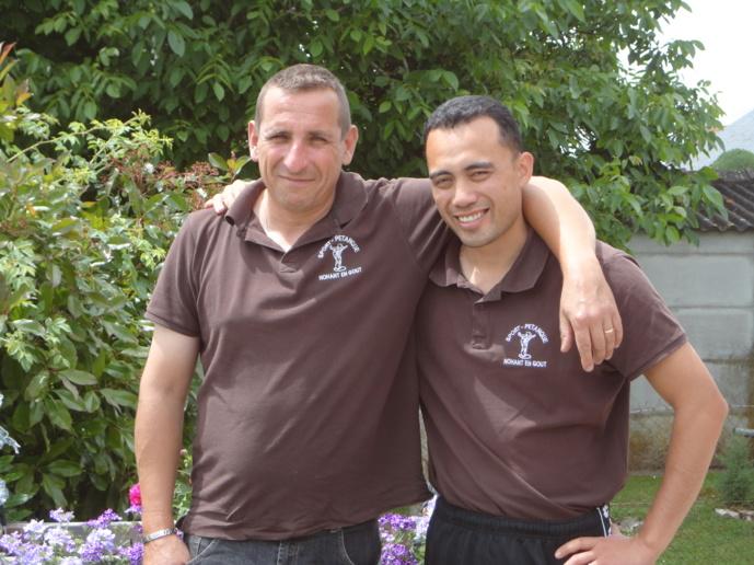Greg et Tristan heureux pour leur dernier championnat ensemble