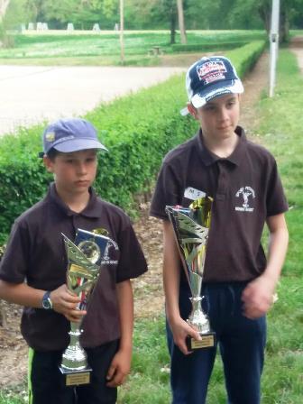 Malgré la fatigue et une pointe de déception Léo et Mattéo sont vice champions