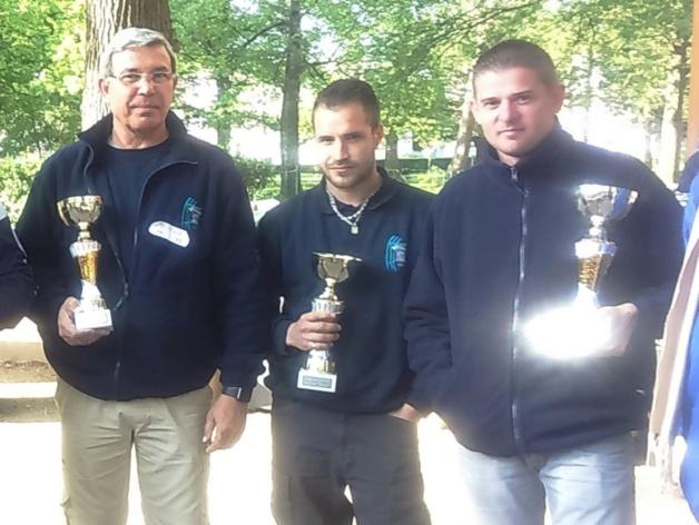 Patrick RANGUE Mickael Brillant et Sebastien Rousseau vice champion triplette