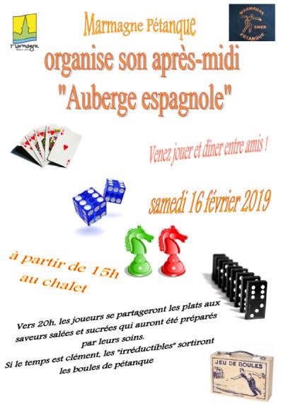 """Après-midi Jeux & Soirée """"Auberge Espagnole"""""""