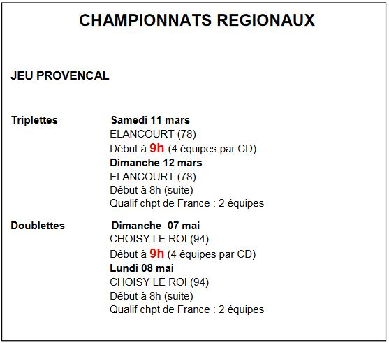 Modification de l'encart du championnat JP TRI (qualif CRIDF)