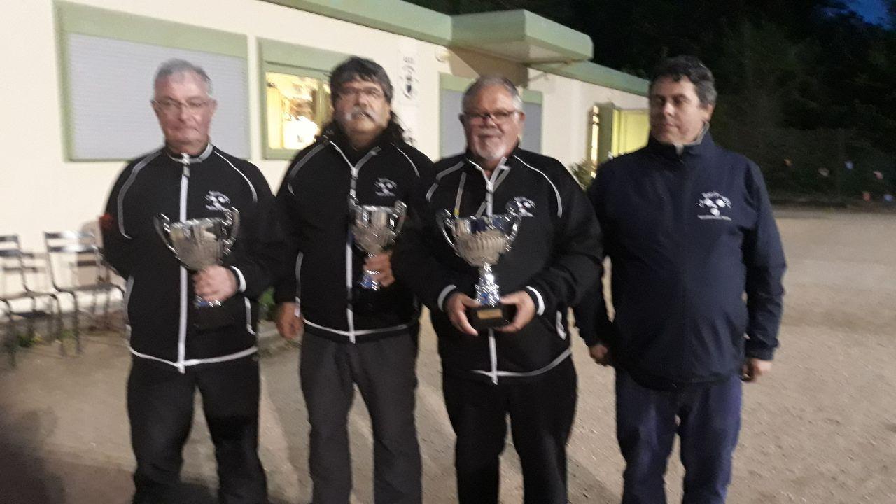 Championnat des Yvelines triplette vétérans au Mesnil le Roi le 25 avril 2019