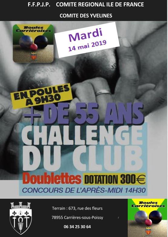 Challenge + 55 ans- Boules Carriéroises