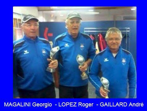 Championnat Départemental Triplettes Vétérans 2014