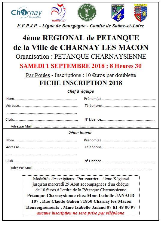 4 ème REGIONAL de la Ville de Charnay-lès-Mâcon