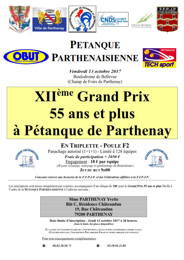 Grand Prix 55 ans et plus Parthenay 2017