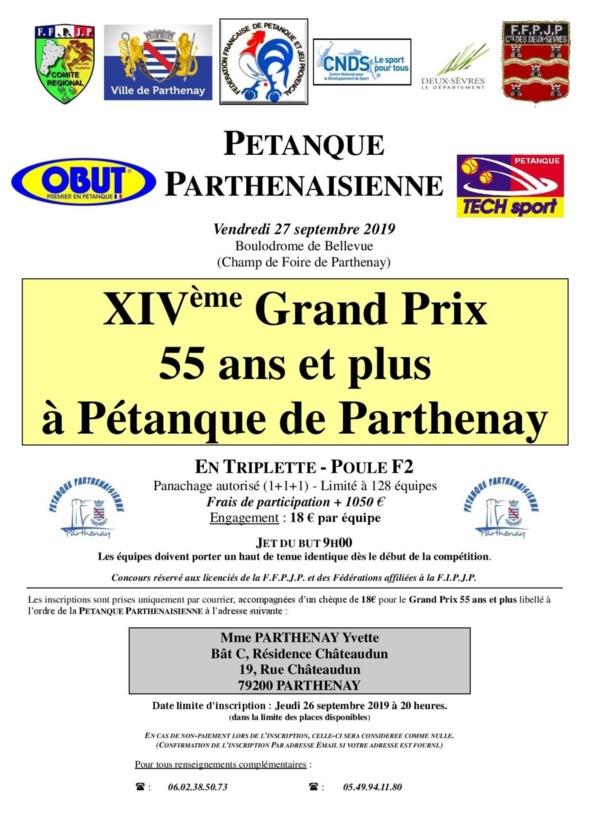 """XIVème GP Triplette """"55ans et plus"""" à pétanque de Parthenay"""