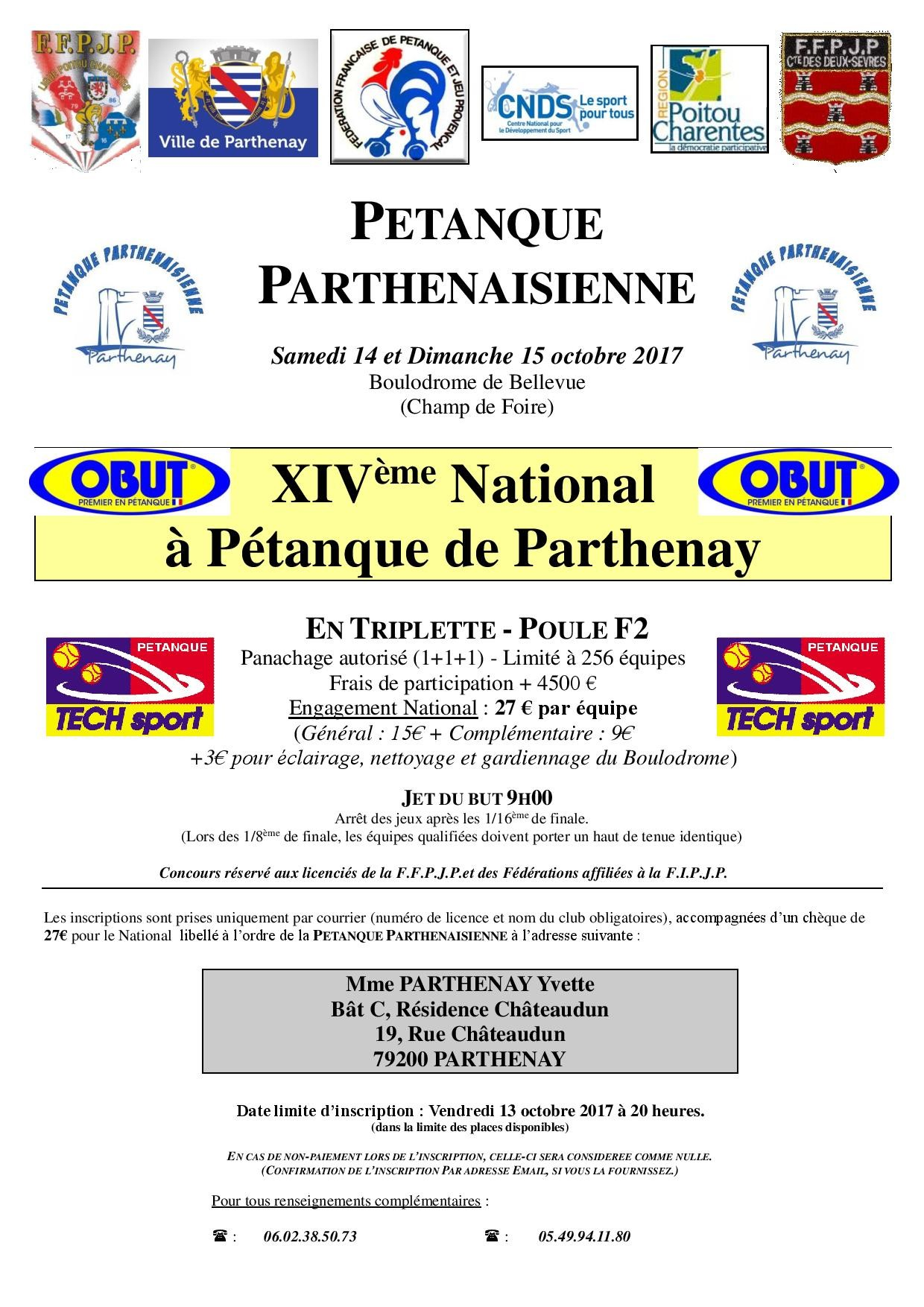 XIV National de Parthenay