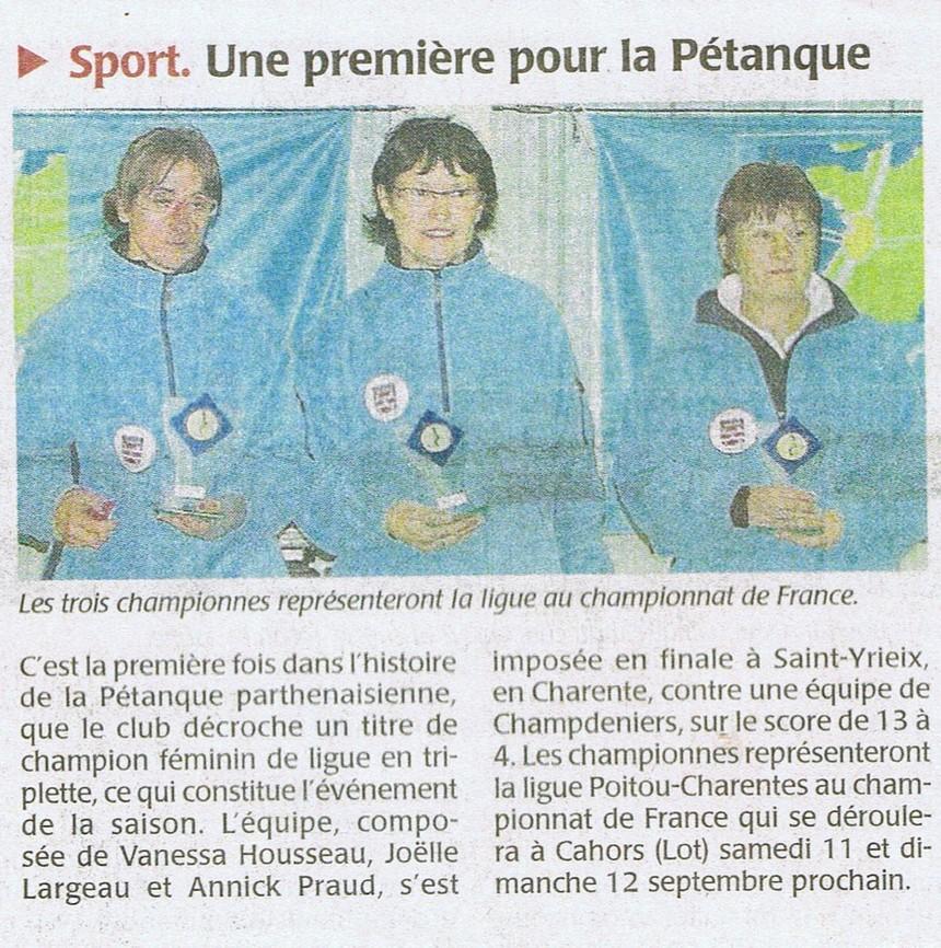 Triplette Féminin France