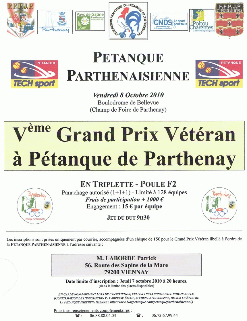 Vème Grand Prix de Parthenay
