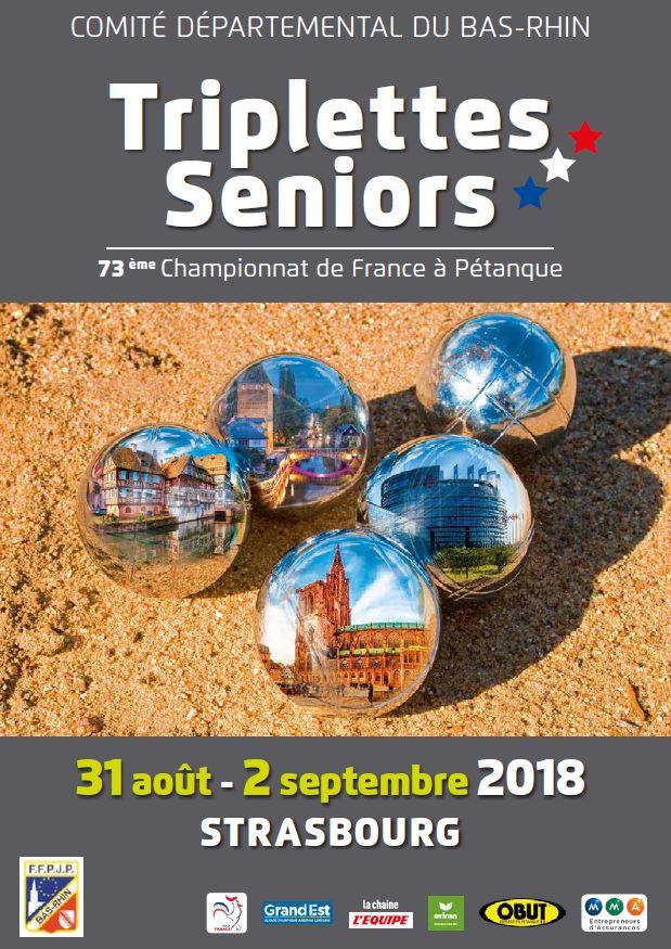 Triplette Masculin 2018 à Strasbourg (67)