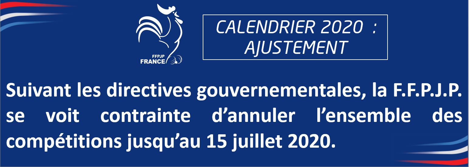 Communiqué de la FFPJP du 17 avril 2020