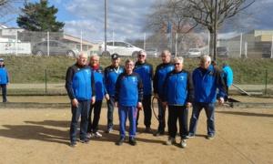 Le Président P Vallenet et son équipe