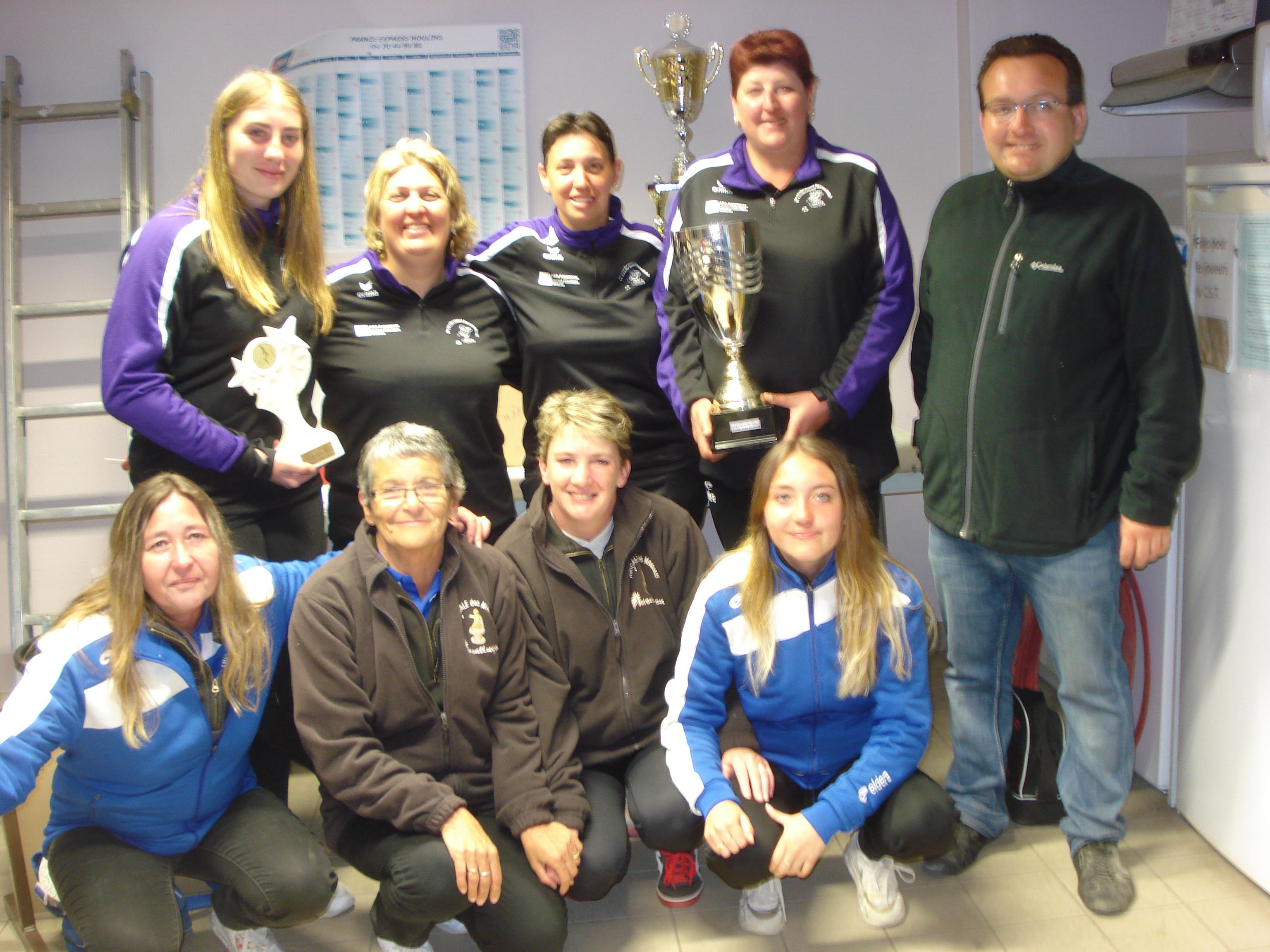 Le Cochonnet Bressollois (Coupe des Clubs Féminines) et La Pétanque St Germanoise (Trophée des Clubs) réalisent le doublé