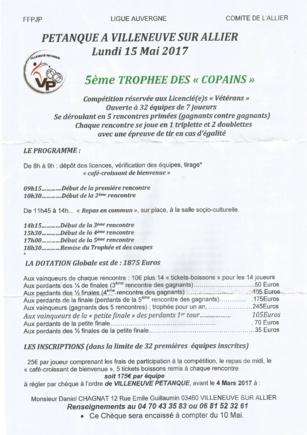 concours vétérans par équipe de 7 à Villeneuve le 15 mai 2017