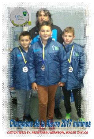 Championnat de la Nièvre Minimes en triplette