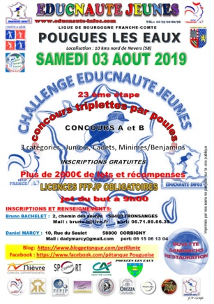 EDUCNAUTE JEUNE 2019  SAMEDI 03 AOUT