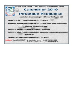 concours à Pougues 2019