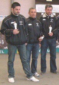 de gauche à droite : Romain EXBOURSE    Alberti BONIN   Olivier BECHARD