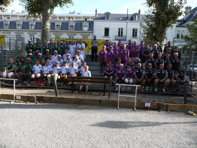 Les participants à la phase finale du Challenge Seniors Soyez Sport.