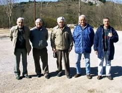 les Anciens du Club avec le Président