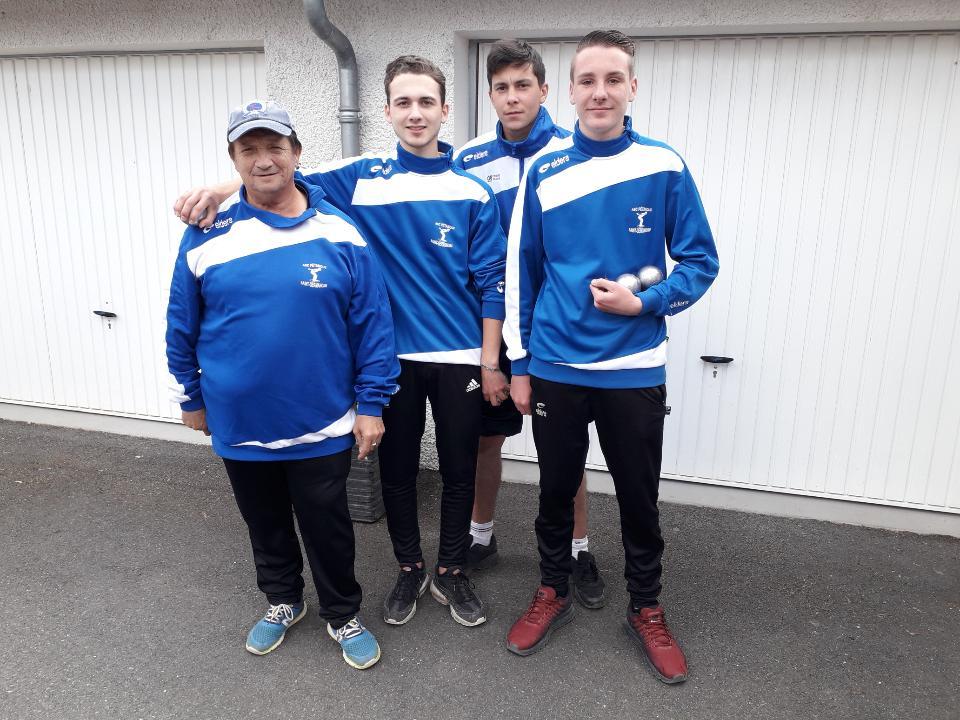 Les  Juniors  Saint - Germanois  Champions
