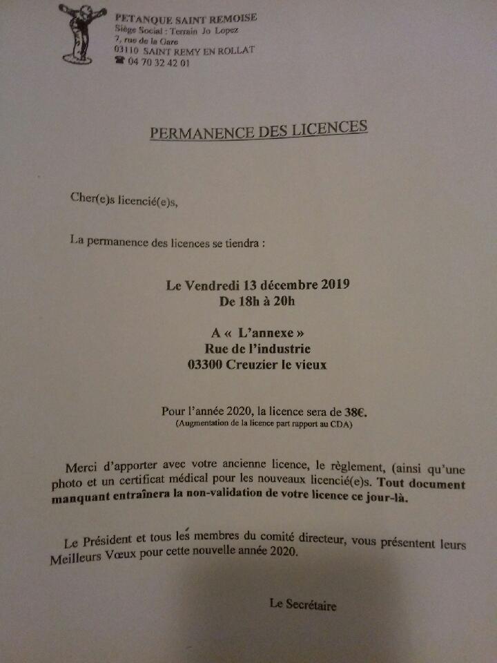 COMPTE RENDU DE L'ASSEMBLEE GENERALE DU VENDREDI 22 NOVEMBRE 2019